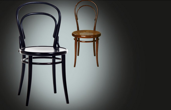 Kavárenská židle číslo 14 od Michaela Thoneta