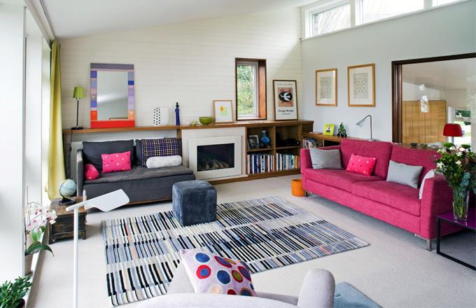 Barevné bydlení ve čtvrti Dulwich na jihu Londýna