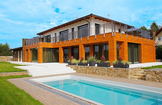 Rozměrná rodinná vila v moderním střihu