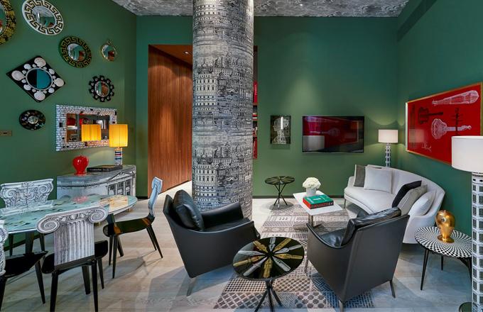 Orientální hotel ve městě designu