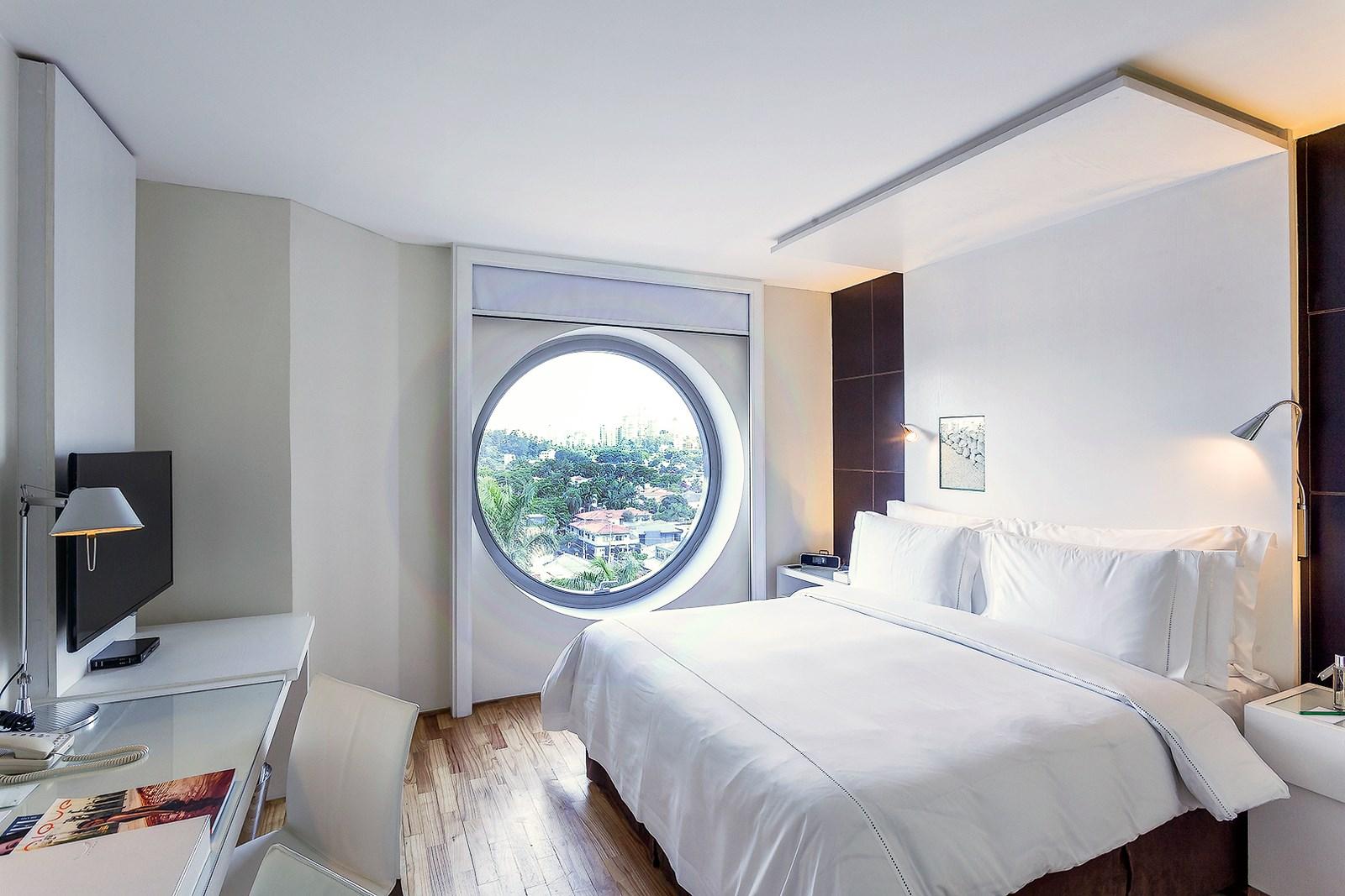 Modern byt brazilsk hotel unique v pl tku melounu for Hotel decor original