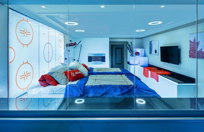 Skybox se na jednu noc proměnil v ložnici
