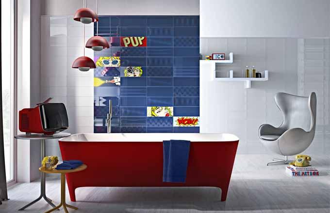 Rozverné barvy koupelnových obkladů
