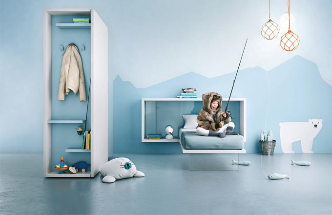 Hravý dětský pokoj pro školáky