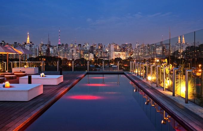 Brazilský hotel Unique v plátku melounu