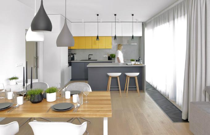 Nadčasové bydlení na šedobílé vlně